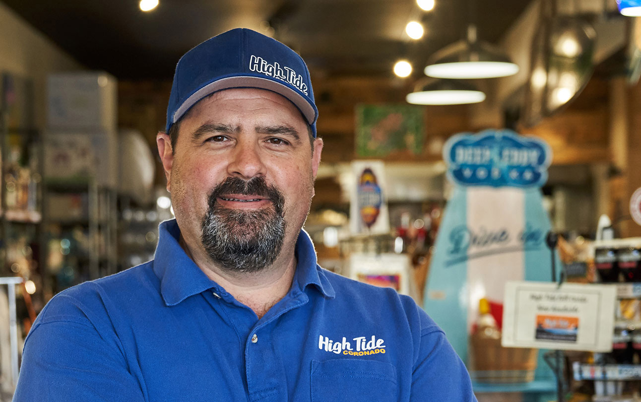 Tom Latona, owner of High Tide - Mobile version